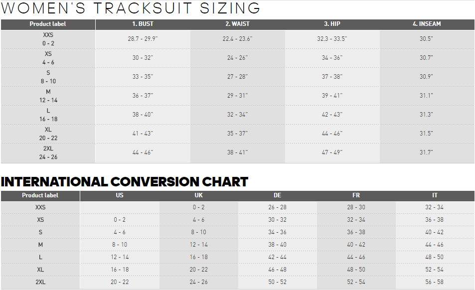 Sizing Information Hockey Factory Shop