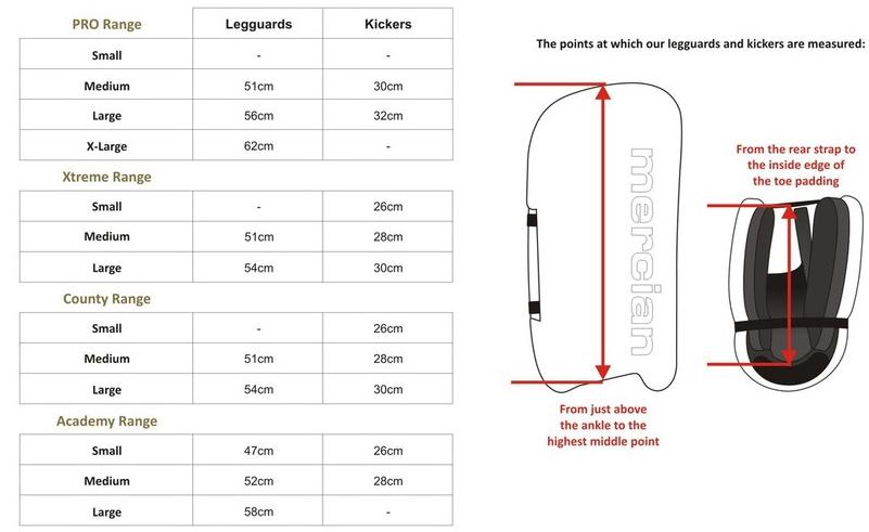Shin Guard Size Chart